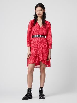Сукня рожева у принт | 5380252