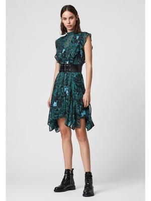 Сукня зелена в принт | 5380502