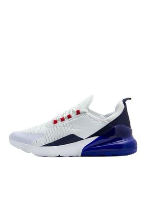 Кроссовки бело-синие | 5380708