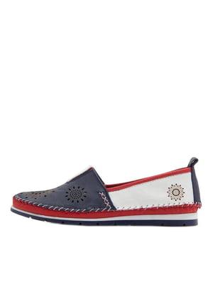 Туфлі червоно-синьо-білі | 5380761