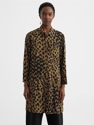 Сукня-сорочка в анімалістичний принт | 5370352