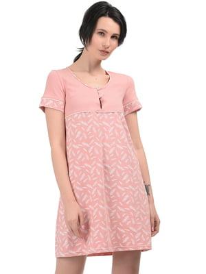 Рубашка ночная терракотового цвета | 5381036