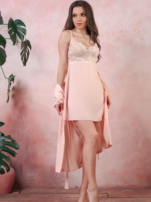 Рубашка ночная персикового цвета | 5381048