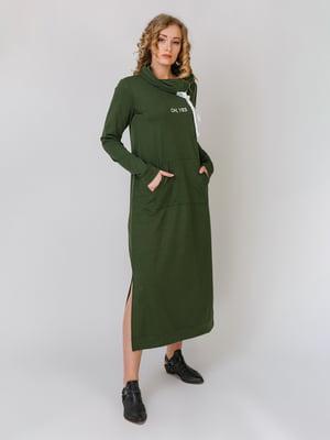 Сукня кольору хакі | 5379492
