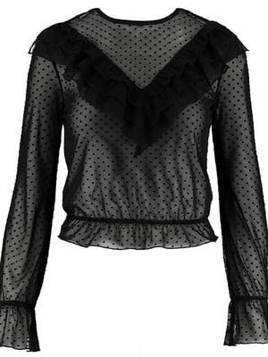 Блуза чорна в горох | 5367481