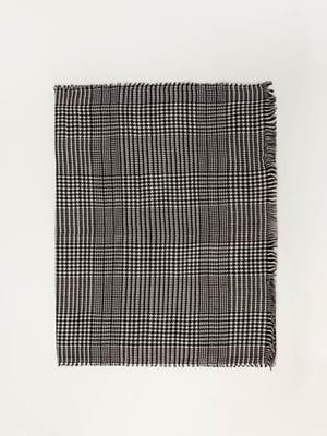 Шарф біло-чорний в принт | 5367492