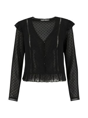 Блуза чорна в горох | 5367507