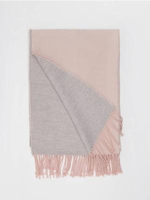 Шарф сіро-рожевий | 5367521