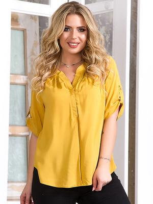 Блуза гірчичного кольору | 5381946