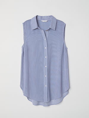 Блуза біло-синя у смужку | 5380824