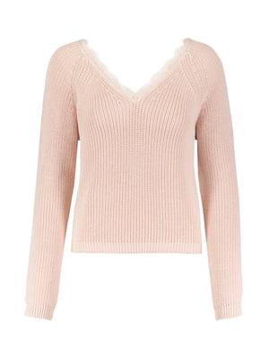 Пуловер пудрового кольору | 5368237