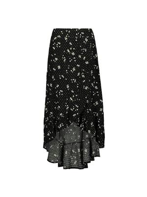 Юбка черная в цветочный принт | 5368401