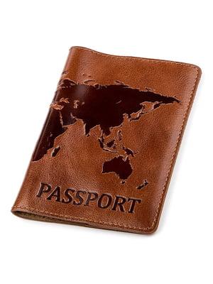 Обложка на паспорт коричневая с рисунком | 5382226