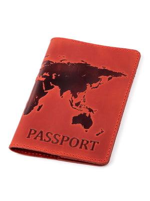 Обложка на паспорт красная с рисунком | 5382227
