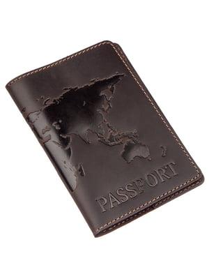 Обложка на паспорт коричневая с рисунком | 5382273