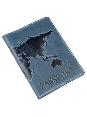 Обложка на паспорт синяя с рисунком | 5382275