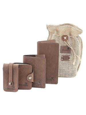 Набор: визитница, обложка на паспорт, ключница и кошелек | 5382890
