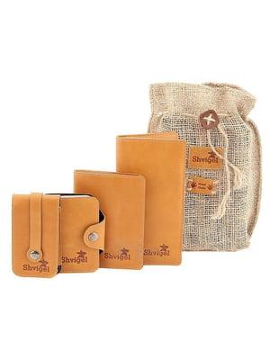 Набор: визитница, обложка на паспорт, ключница и кошелек | 5382892