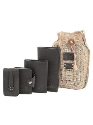 Набор: визитница, обложка на паспорт, ключница и кошелек | 5382894