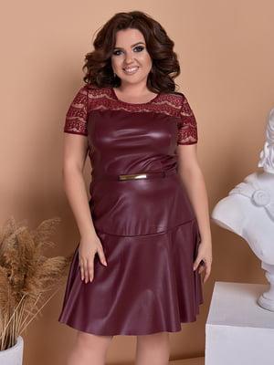 Сукня кольору марсали | 5383797