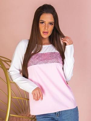 Блуза двухцветная с декором   5383805