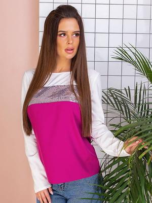 Блуза двухцветная с декором   5383806