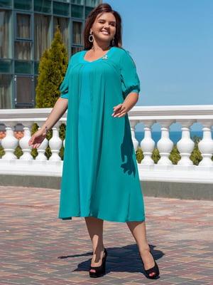 Сукня кольору морської хвилі | 5383840