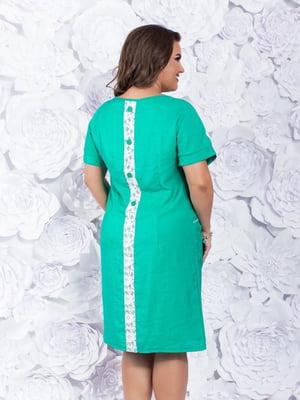 Платье бирюзово-белое | 5383848