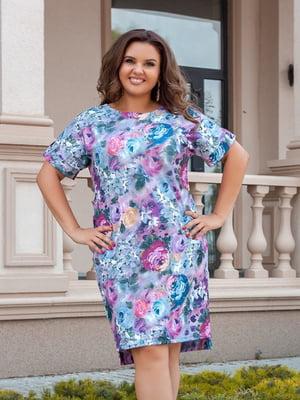Платье в цветочный принт | 5383859