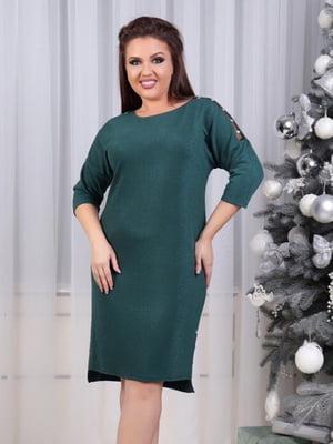 Платье темно-зеленое | 5383862