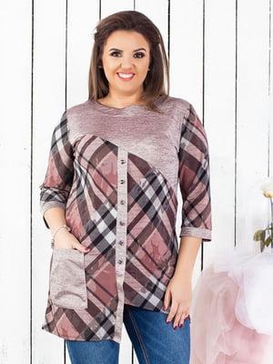 Блуза комбинированной расцветки | 5383883