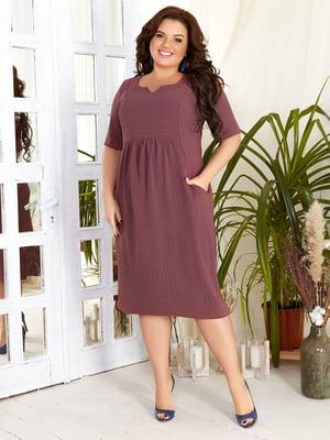 Сукня кольору марсали в смужку | 5383950