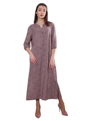 Сукня рожева в принт | 5385083