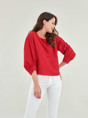 Блуза красная   5384560