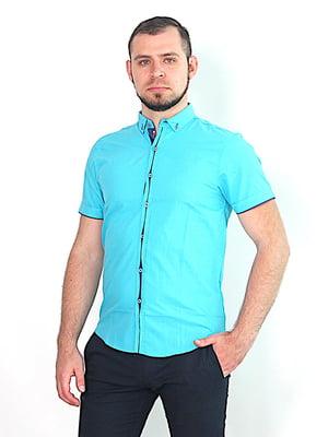 Рубашка бирюзового цвета | 5385743
