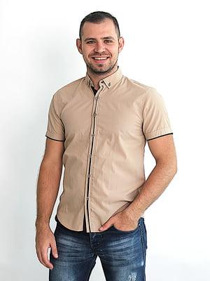 Рубашка бежевая | 5385744