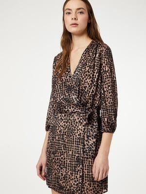 Сукня чорно-бежевого кольору з декором | 5384064