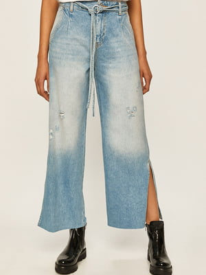 Кюлоты голубые джинсовые | 5384078