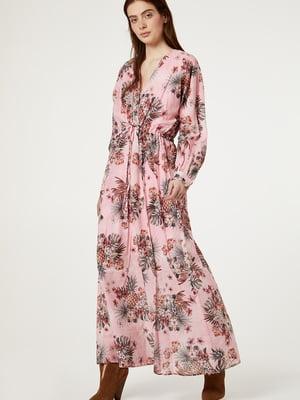 Платье розовое с принтом | 5384083
