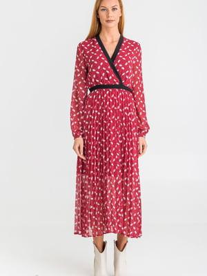 Платье розовое с принтом | 5384268