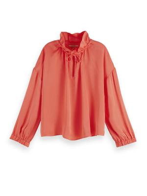Блуза кораллового цвета | 5384822