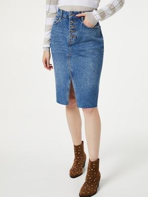Спідниця синя джинсова   5384211