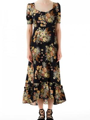 Платье черное с принтом | 5384072