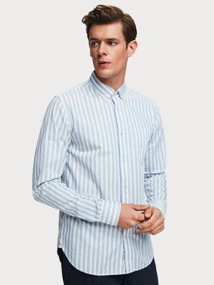 Сорочка блакитного кольору в смужку | 5384775