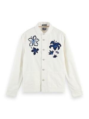 Куртка біла з принтом   5384777