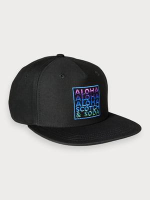 Бейсболка черная с логотипом | 5384800