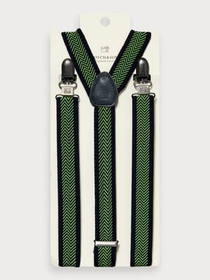 Підтяжки синьо-зелені в смужку | 5384805
