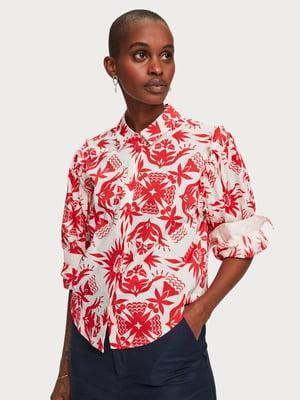 Рубашка с принтом | 5384843
