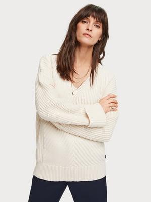 Пуловер бежевий | 5384879