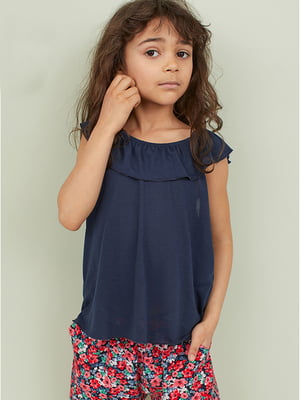 Блуза темно-синя | 5386450
